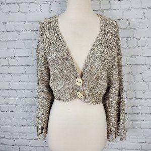 Free People Loose Knit Crop Sweater S